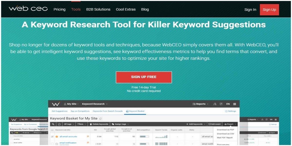 webCEO-keyword