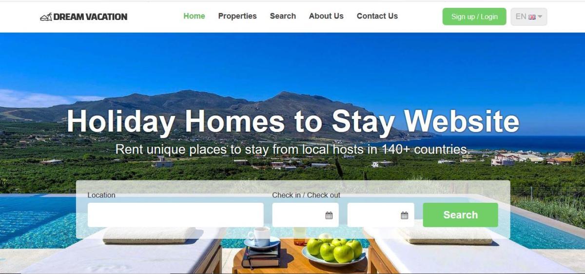 Solution pour Site web de location de vacances